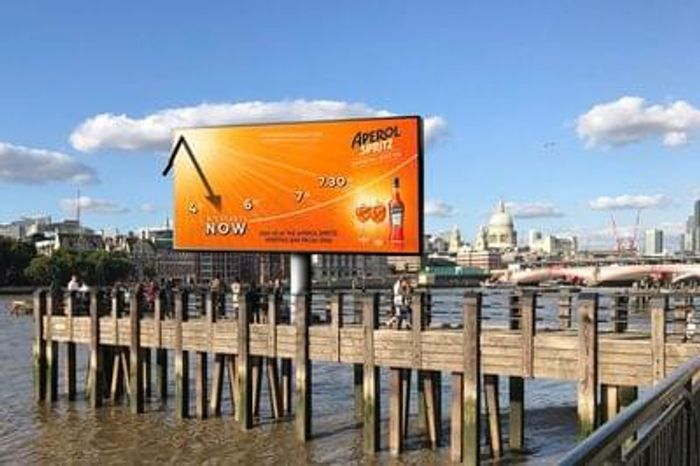 Free Aperol Spritz sample at London Southbank 23-28 August