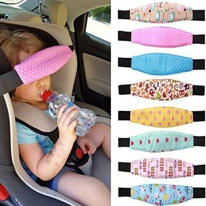 Kids head strap for car seats etc