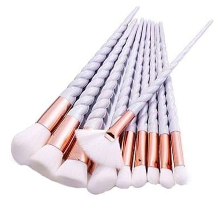Unicorn make up brushes white