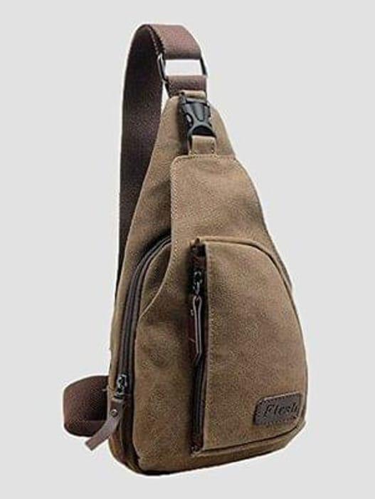 Men's Small Canvas Military Messenger Shoulder Travel Hiking Bag