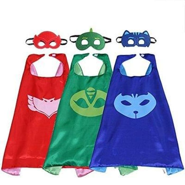 PJ MASKS Superhero Cape and Mask Set Dress Up Costume 3 Characters