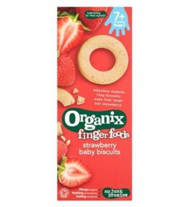 Organix Strawberry Ring Biscuits 54g Also avaliable IN STORE