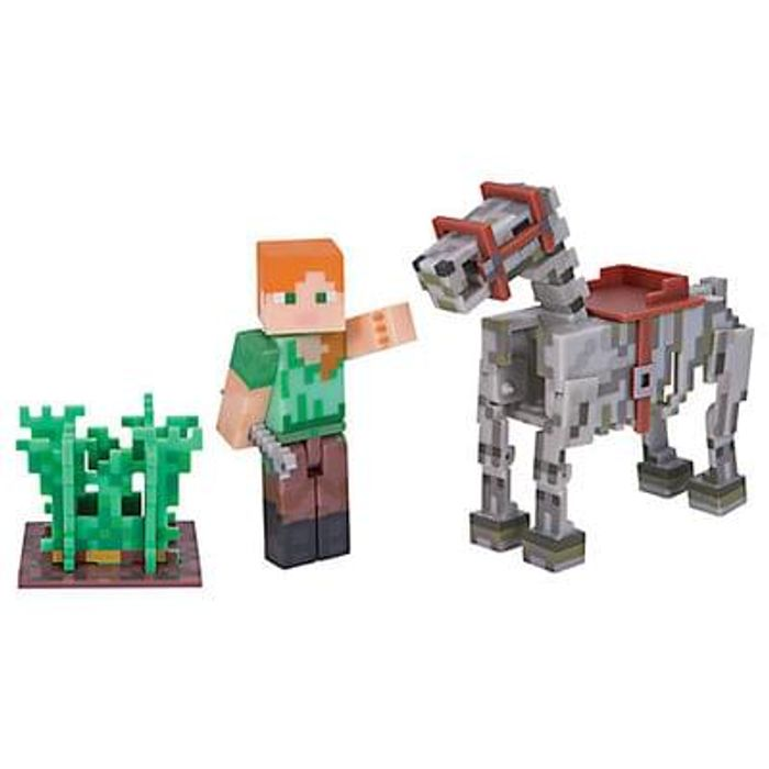 Minecraft Alex & Skeleton Horse Series 3 Pack
