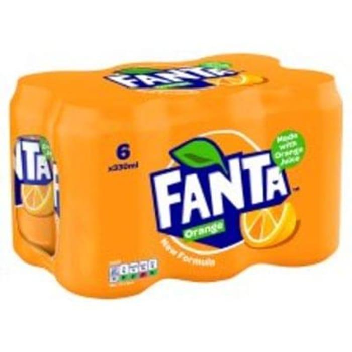 Tesco - Fanta Orange 6 X 330 ml Pack