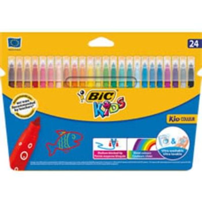 Bic Kid Couleur Felt Tip Pens 24pk *HALF PRICE* Free C+C