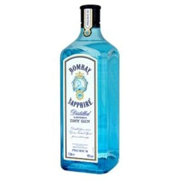 Bombay Sapphire Distilled London Dry Gin 1ltr Save £7.50 Free C+C