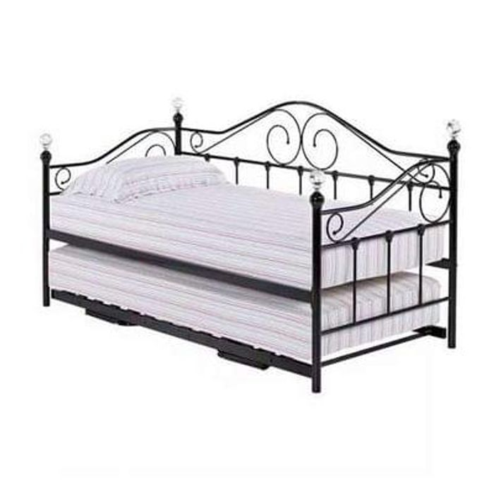 Florence Black Day Bed with Trundle Save £135 Delivery £9.95