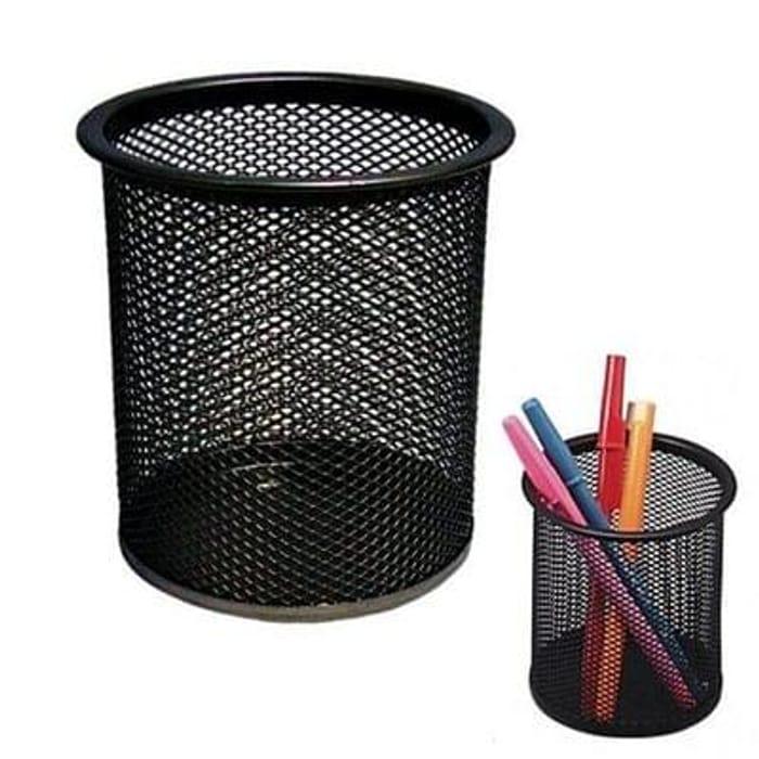 Pro Range Black Wire Mesh Pencil And Pen Cup Desk Tidy £1 P&P