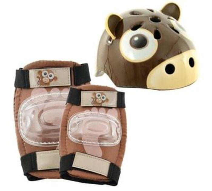 Chad Valley Zoomies Monkey 3D Helmet and Pad Set