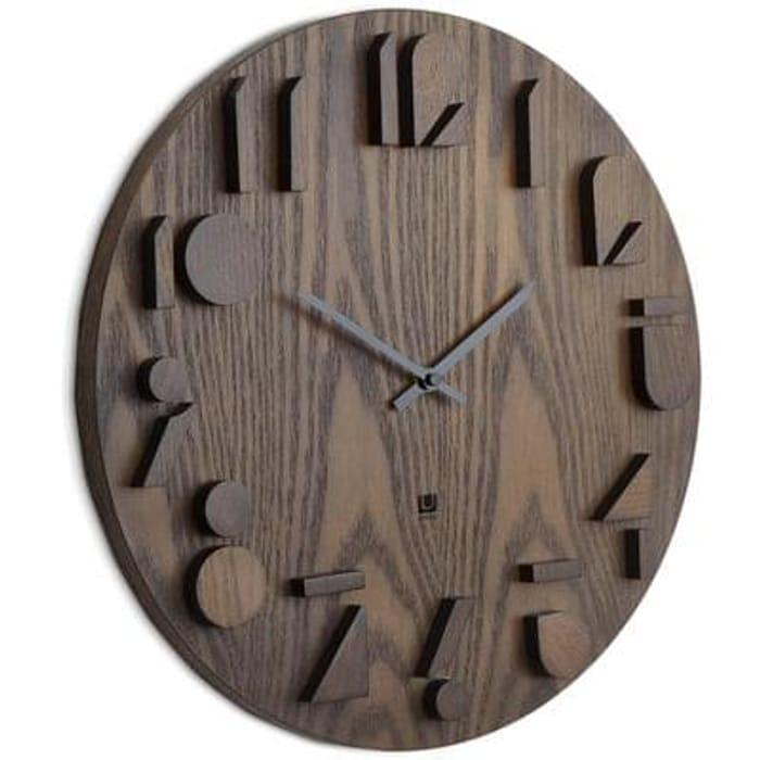 Umbra Shadow Wall Clock Aged Walnut