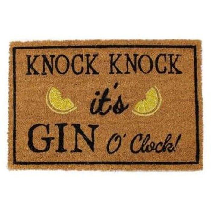 Gin O' Clock Coir Mat door mat