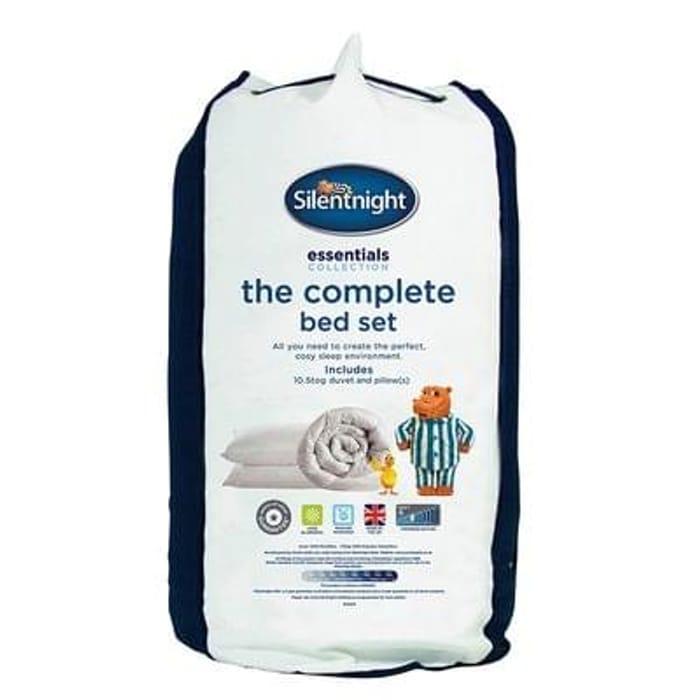 Silentnight Complete Bed Set Single Save £42 Free C+C