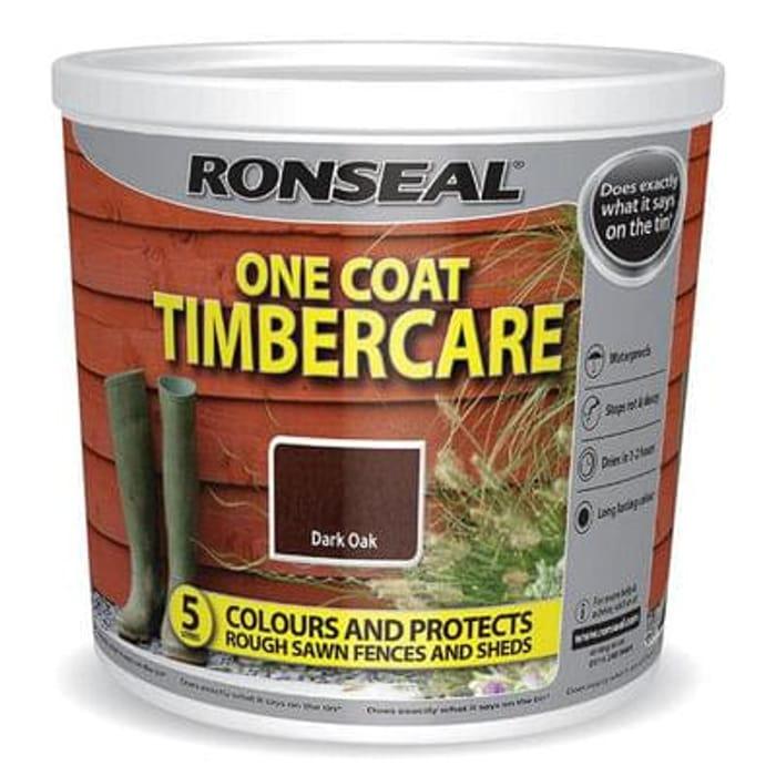 Ronseal One Coat Timbercare - Dark Oak 5L