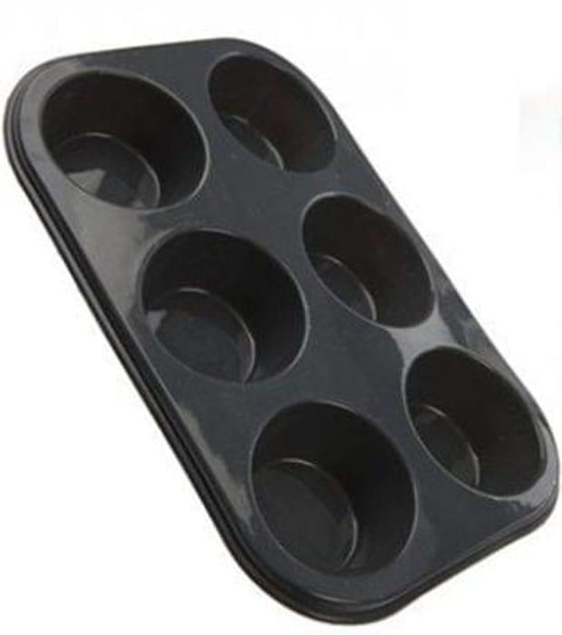 6 Cup Muffin Tray - Non Stick Silicone Rubber Mould