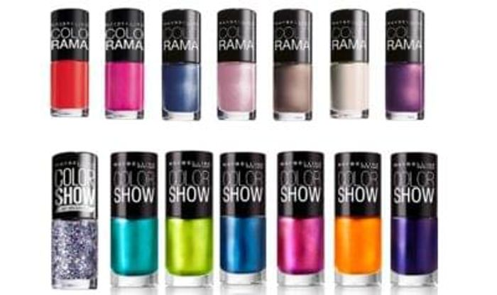 10 Maybelline Colorama or Color Show Nail Polishes