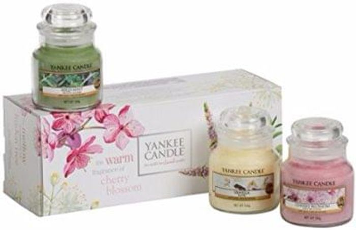 Yankee Candle Pure Essence 3 Jars Gift Set, Multi-Colour, Small