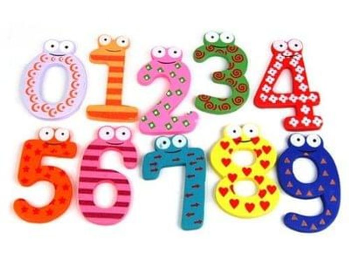 Tinxs Funky Fun Colorful Magnetic Numbers Wooden Fridge Magnets