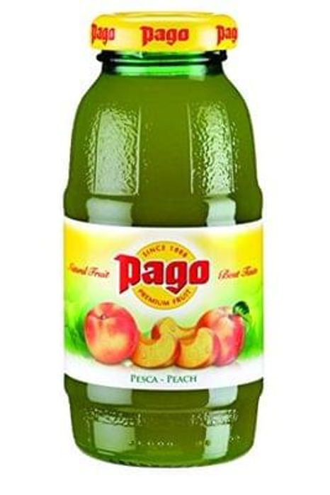 Pago Peach Juice 200 ml (Pack of 12)