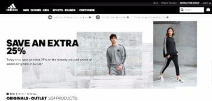 Adidas - extra 25% OFF on 50%OFF with free delivery