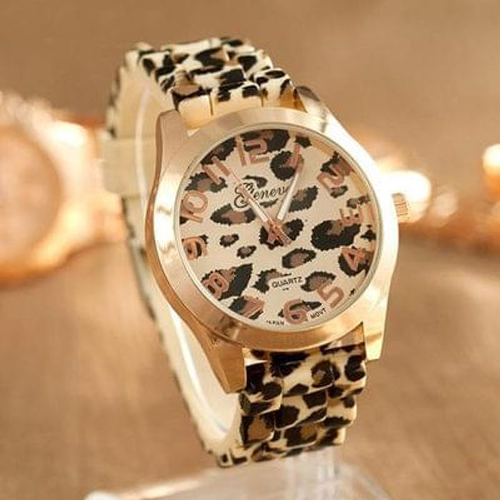 FREE Beige Leopard Print Watch - Only Pay Postage