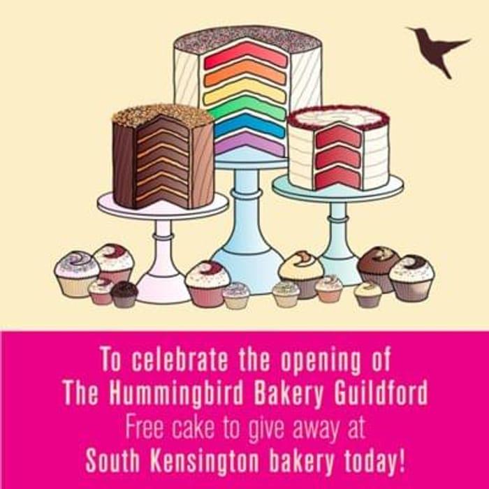 More free cakes from Hummingbird Bakery - South Kensington