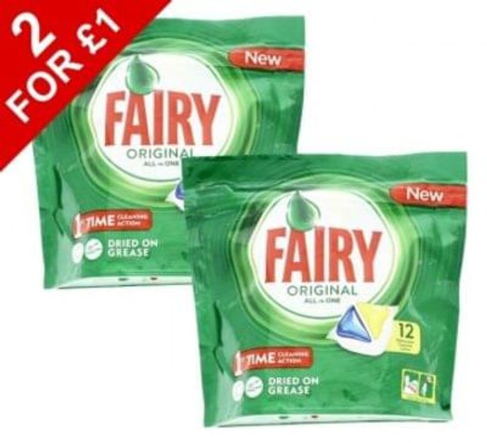 24 Fairy All In One Dishwasher Tablets