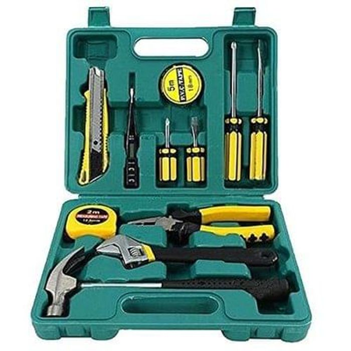 Tech Professional 12pcs Tools Set Hand Carry Tool Box Save £9 Delivery £2.98