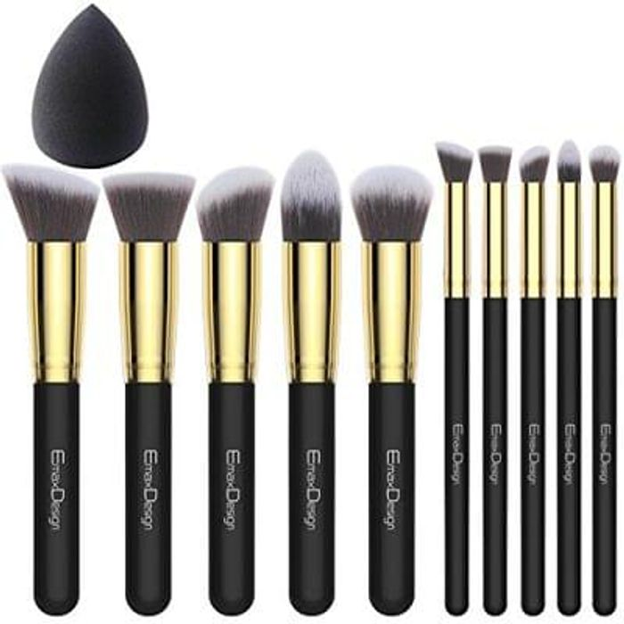 EmaxDesign Makeup Brushes 10+1 Pieces Makeup
