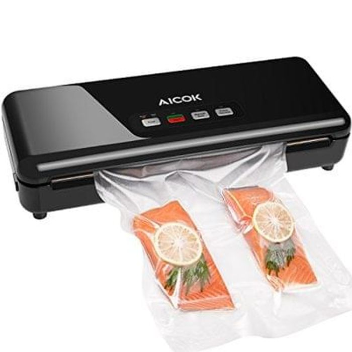 Aicok Vacuum Sealer, 3 In 1 Automatic Food Sealer Save £60 Free Delivery