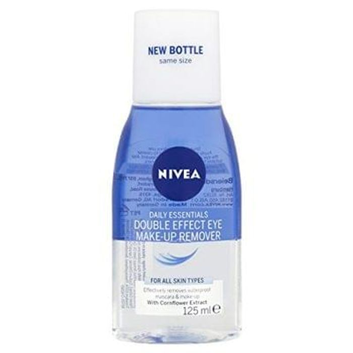 Nivea Daily Essentials Double Effect Eye Make-Up Remover, 125 ml - Pack of 6