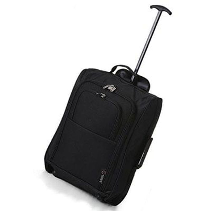 5 Cities Cabin Trolley Hand Luggage Bag Save £31 Free Delivery