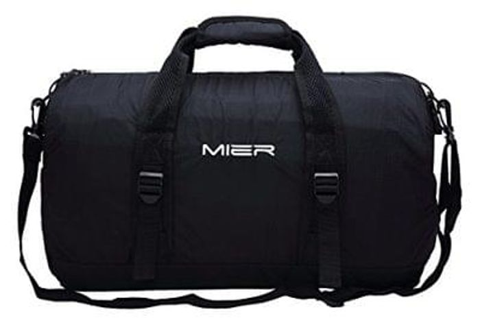 MIER 40L Foldable Barrel Gym Bag Sports Holdall Save £9