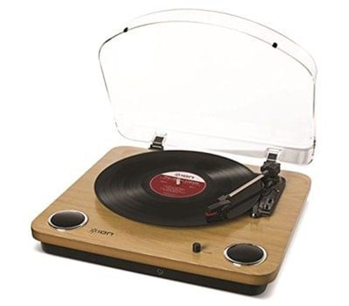 ION Audio Max LP Belt-Drive Turntable with Built-In Stereo Speakers