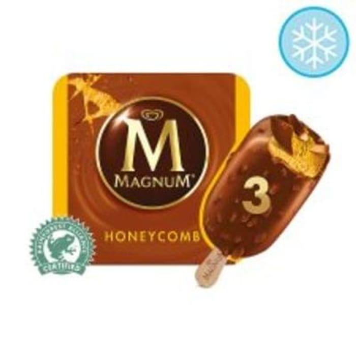 Tesco - Magnum Honeycomb Ice Cream 3 X100ml