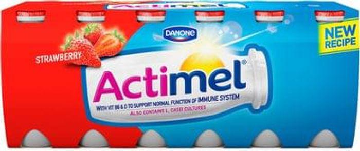 Actimel Strawberry and Blueberry (12x100g) at Morrisons and Asda