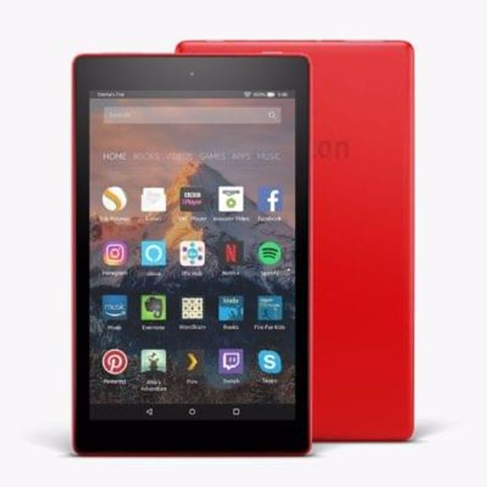 "New Amazon Fire HD 8 Tablet with Alexa 16GB, 8"" Red"