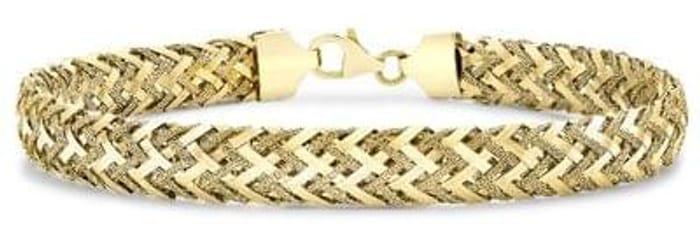 Carissima Gold 9ct Yellow Gold Women's Textured Bracelet Save £283.78 Free P&P