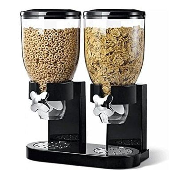 Double Plastic Classic Dry Food Cereal Dispenser Save £46