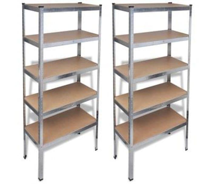 Storage Shelf Silver 2 pcs Free Delivery