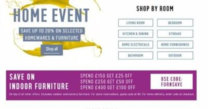 Home Event at ARGOS up to 20% off