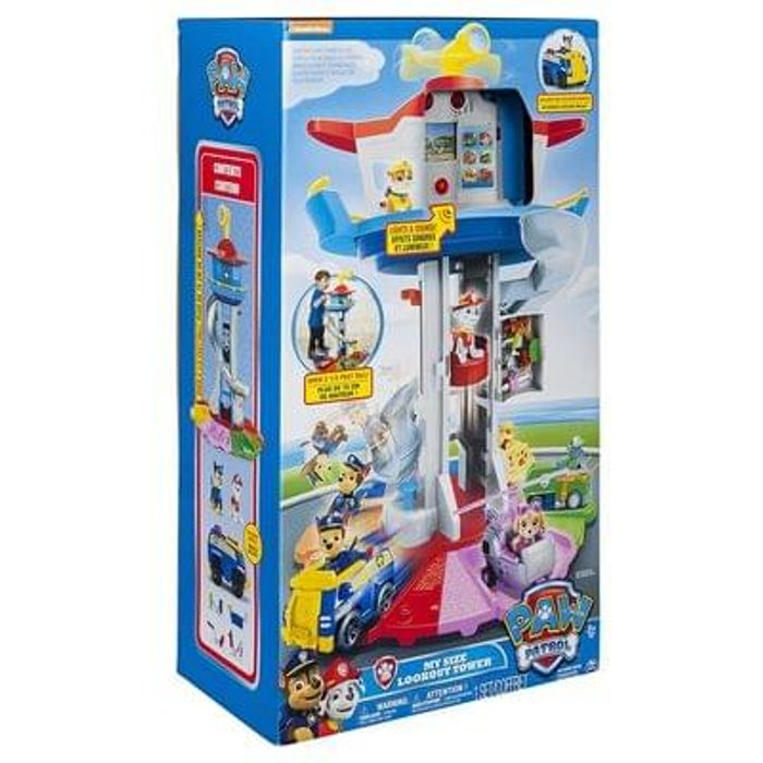 Buy Paw Patrol My Size Lookout Tower Amazon price £99.99. Watch the video.