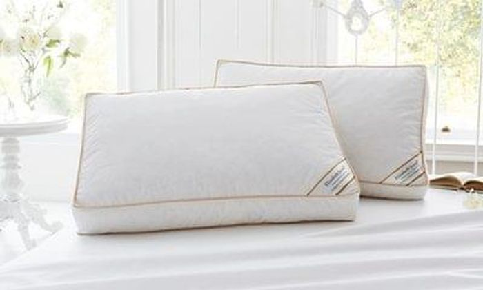 Two, Four or Eight Box Hotel Quality Duck Feather Pillows from £13.99