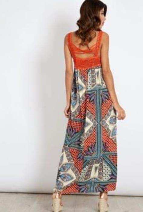 Crochet & Print Dress at Blue Vanilla