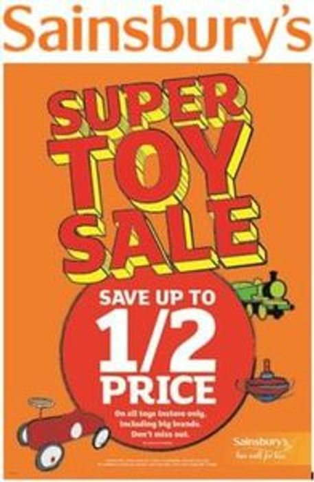 When is the SAINSBURYS HALF PRICE TOY SALE 2017 Start Date?