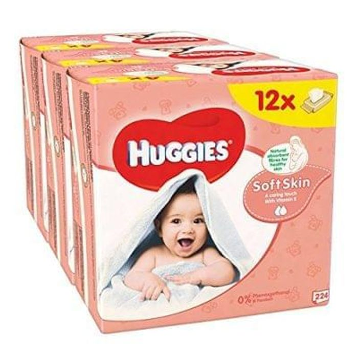 Huggies Soft Skin Baby Wipes - 12 Packs (672 Wipes Total)