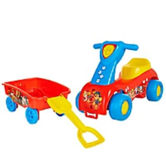 Paw Patrol Push 'n Scoot & Shovel Wagon Combo Set