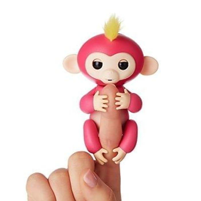 WowWee Fingerlings Pet Baby Monkey, Pink