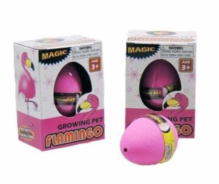 La Sophia Novelties Hardback Growing Super Flamingo Eggs