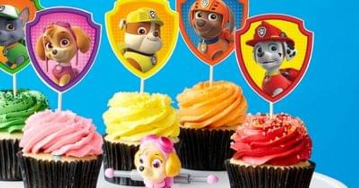graphic relating to Paw Patrol Printable Decorations referred to as cost-free printable paw patrol cupcake toppers .british isles