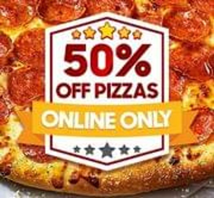 Pizza Hut 50% Off When You Spend £15 Online